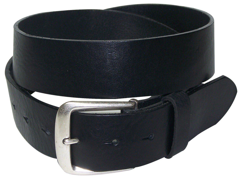 FRONHOFER Business Belt real leather mens womens belt decent buckle snap button, Size:waist size 43.5 IN XL EU 110 cm, Color:Black