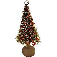 Árvore Base Madeira 15cm Verde com Berries Vermelho Enfeite de Natal- M60-2118- Yangzi