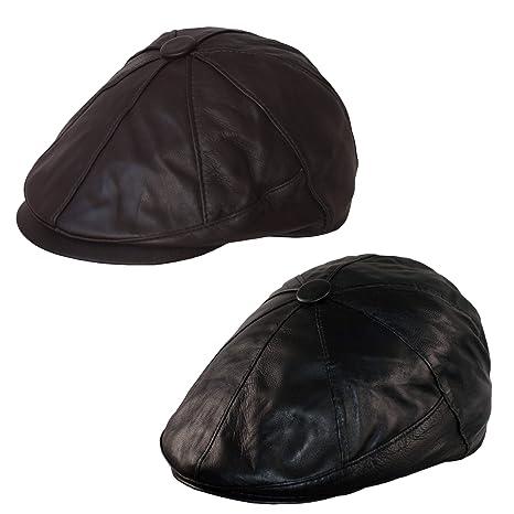 Dazoriginal Basco Scozzese Uomo Cappello da Uomo Berretto Piatto Coppola  Pelle 2 e70b90cfd506