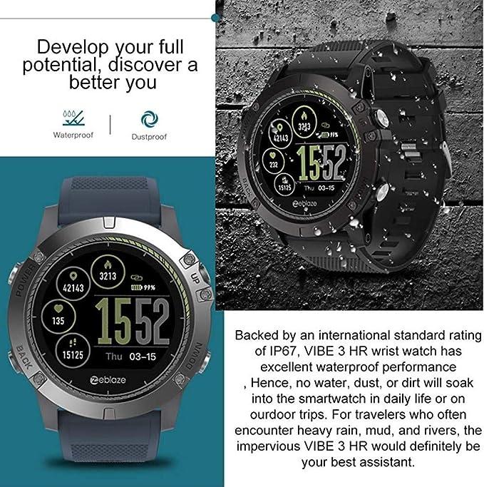 FBLWT Smartwatches Zeblaze Vibe 3 HR Smartwatch Ip67 Smart Wrist ...
