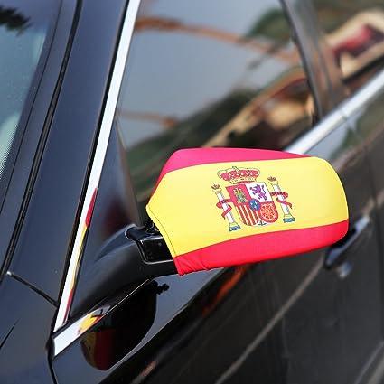 Tera® Referencia Espejo Exterior del Coche Cubierta de la Bandera Nacional del Retrovisor (España): Amazon.es: Coche y moto