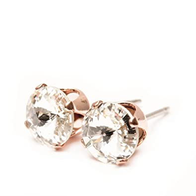 [Sponsored]pewterhooter Rose Gold stud earrings expertly made with sparkling crystal from SWAROVSKI®. YjnzeSC