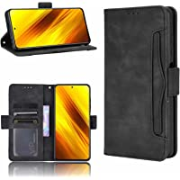 TANSKE Capa carteira para Xiaomi Poco X3 Pro/Poco X3 NFC, [6 compartimentos para cartão] Capa carteira de couro PU macio…