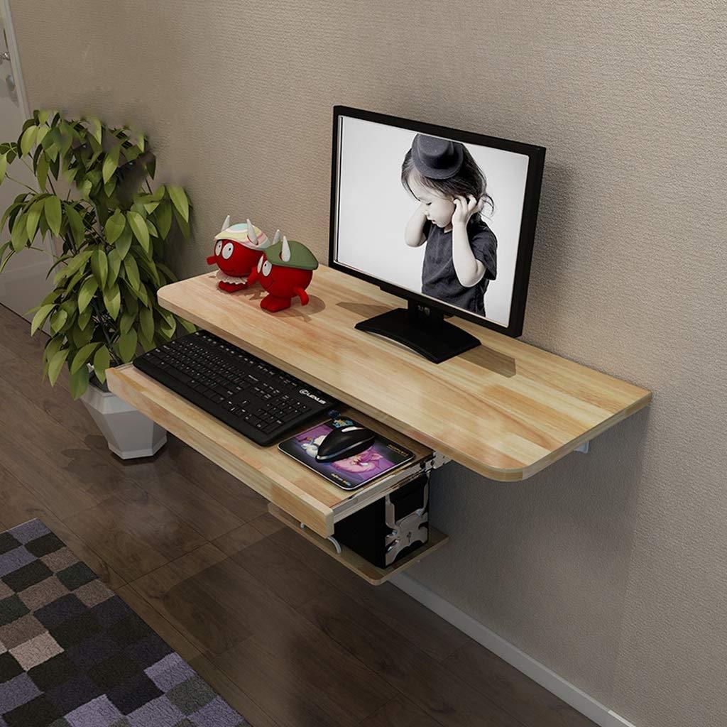 壁掛けパソコンデスクブックテーブルフローティング棚ウォールシェルフリビングルーム寝室勉強部屋オフィスデスクゲームテーブル多機能ディスプレイ棚木製 (色 : 120cm) B07RVLQ8BW 120cm