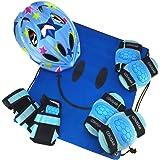 J@G 子供用 自転車用 ヘルメット ヒジ ヒザ 手首 プロテクター セット ナップサック付き 超軽量 可愛い