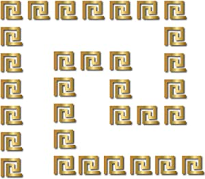 30 Pieces Gold Acrylic (NOT GLASS) Mirror Wall Stickers Greek Key Geometric Pattern Tiles Self Adhesive Adhesive Mirrors Decor for Living Bedroom Bathroom Apartment Dorm Cubicle Cute Room Home decals