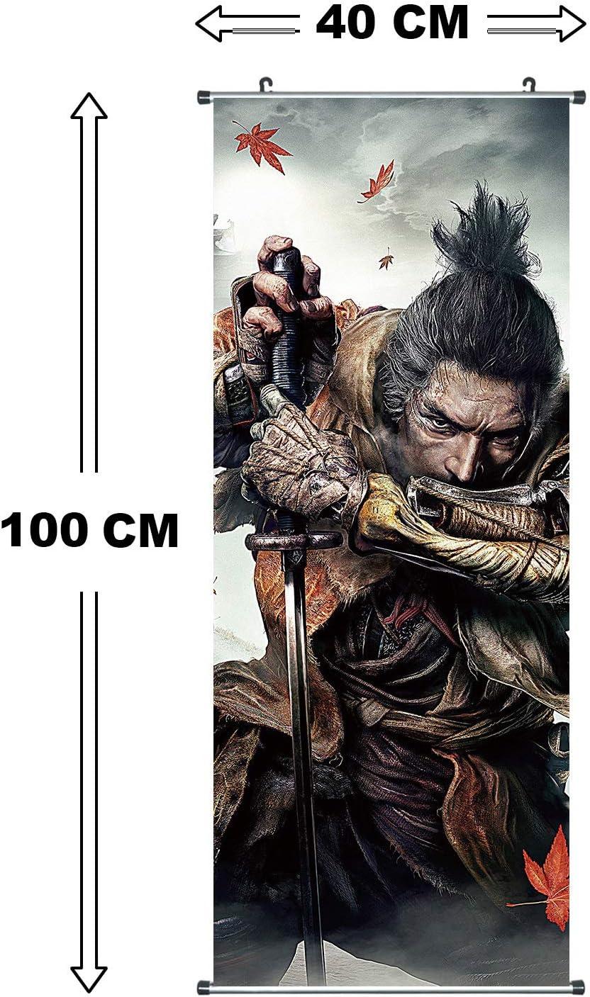 Poster 100x40cm Motiv: Sekiro CoolChange Gro/ßes Sekiro: Shadows Die Twice Rollbild Kakemono aus Stoff