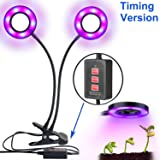 Dual-lamp LED Grow Light Aotson 36LEDs Adjustable 3 Modes Timer(3H/6H/12H) 4 Levels Plant Grow Lamp Lights Bulbs with Flexible 360 Degree Gooseneck for Indoor Plants Hydroponics Greenhouse Gardening