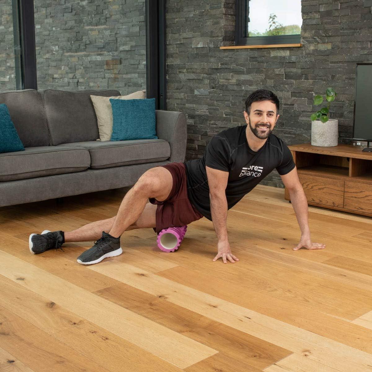 CORE BALANCE Faszienrolle f/ür Selbstmassage v.a Fitness u Lightweight Blackroll aus Schaumstoff ideal f Physio der tiefliegenden Muskelpartien verklebte Faszien wirkt auf verspannte Muskeln u