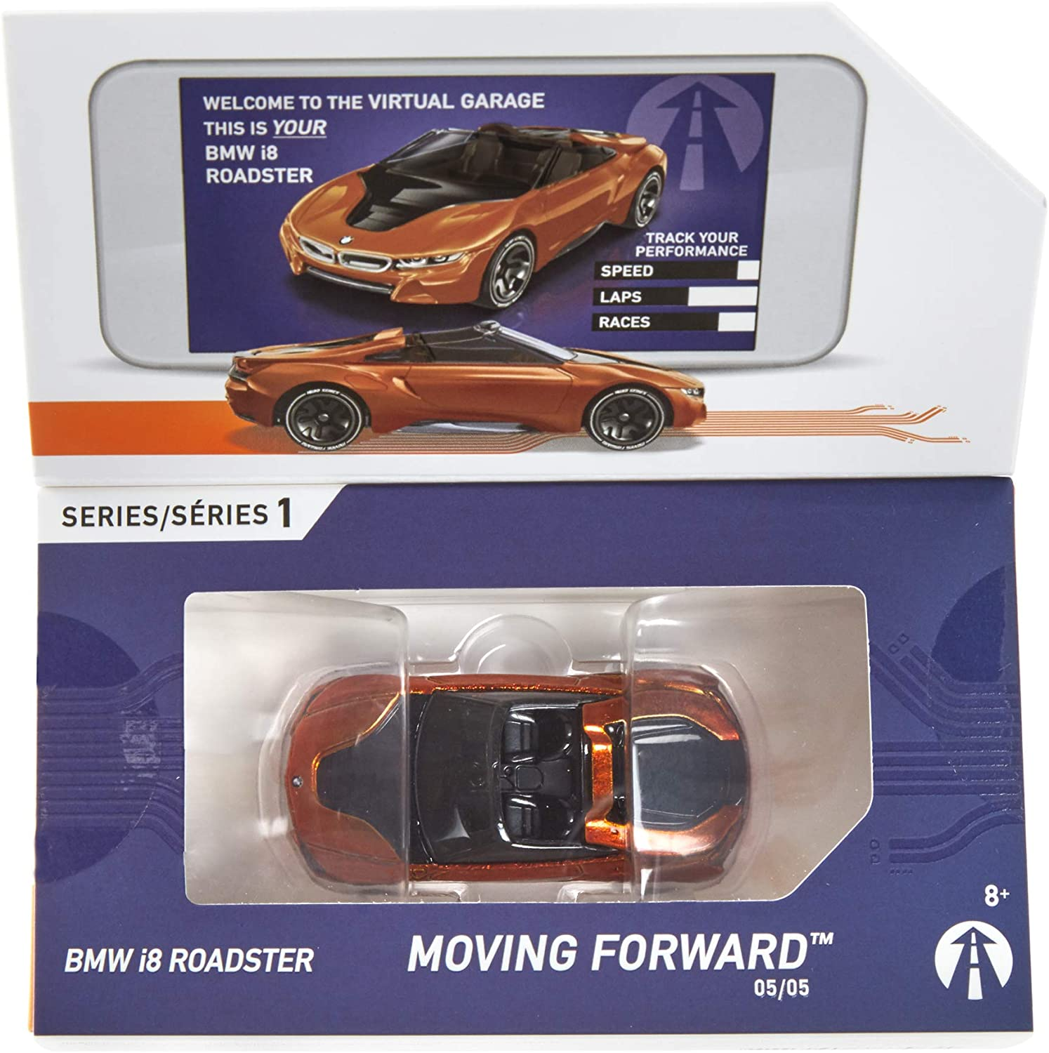New 2018 Hot Wheels ID BMW i8 Roadster Moving Forward Series 1 #5//5 Scale  1:64