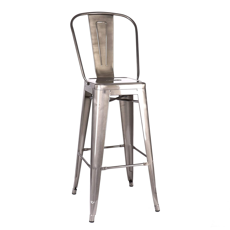 Terrific Amazon Com Design Lab Mn Ls 9100 Gunhb Dreux Gunmetal High Andrewgaddart Wooden Chair Designs For Living Room Andrewgaddartcom