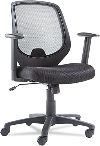 OIF Swivel/Tilt Mesh Mid-Back Chair Height Adjustable T-Bar Arm