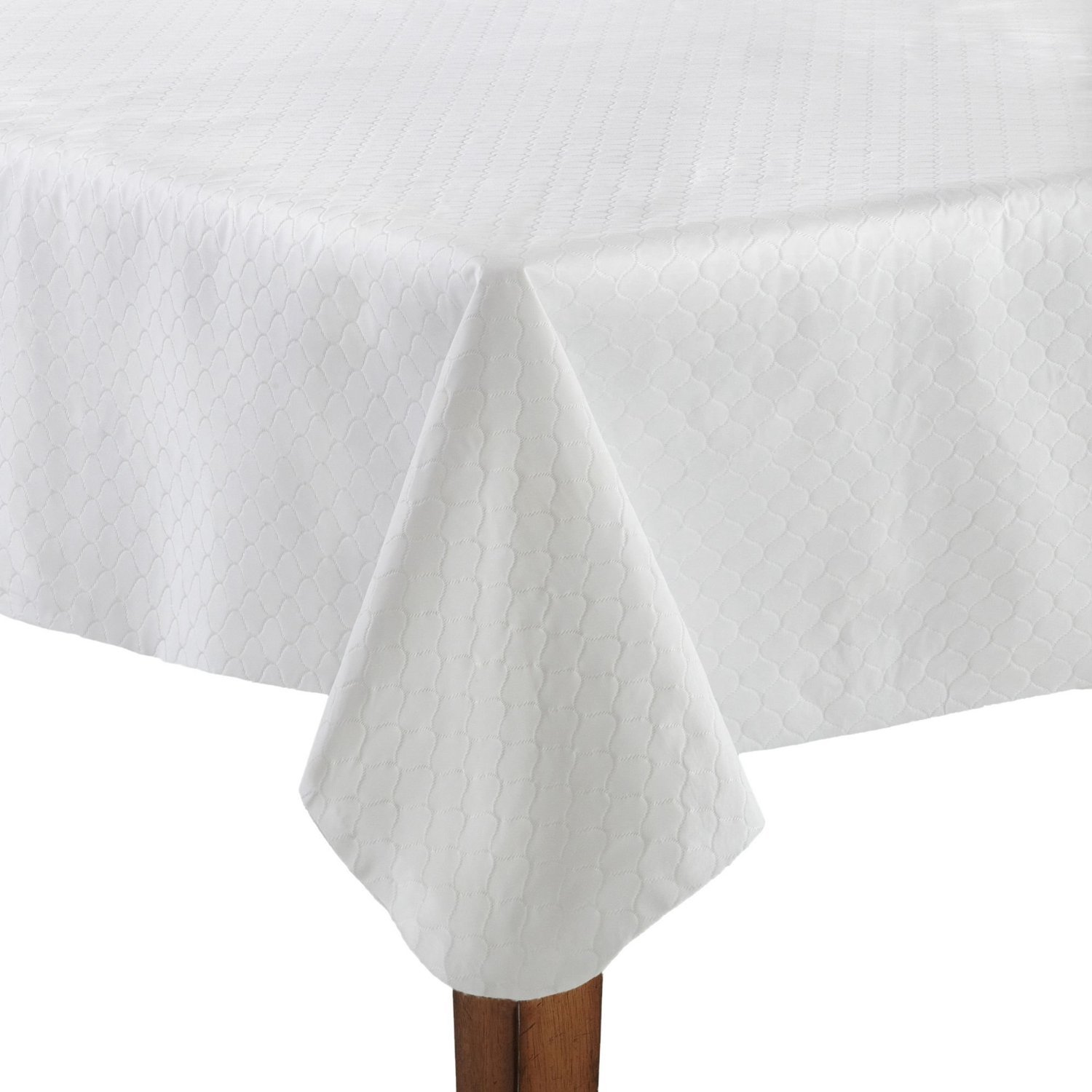 Hotel Premium Tablepad with Flannel Backed Heavy Gauge Vinyl Cut to Fit - White (70'' Round)