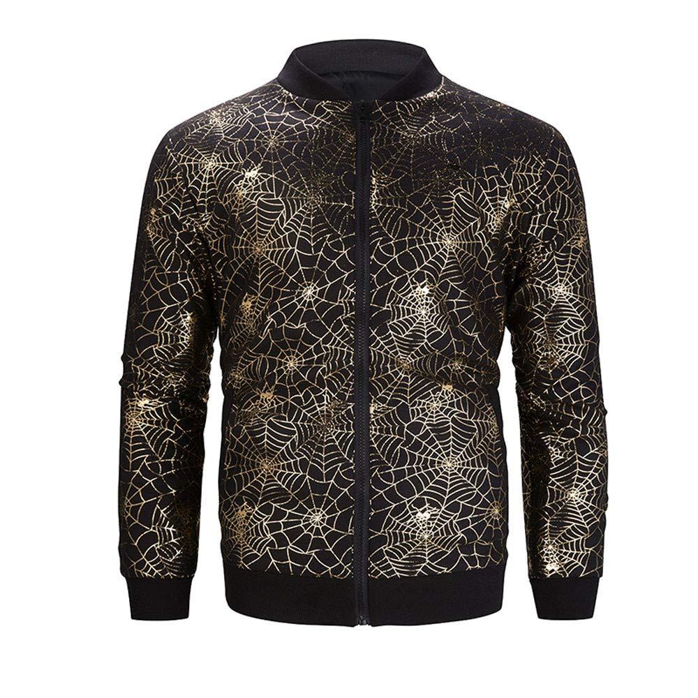 Btruely Jacke Herren Winter Mantel M/änner Parka Langarm Outwear Herbst /Übergangsjack Zipper Windbreaker Hot Stamping St/änder Bomber Jacken