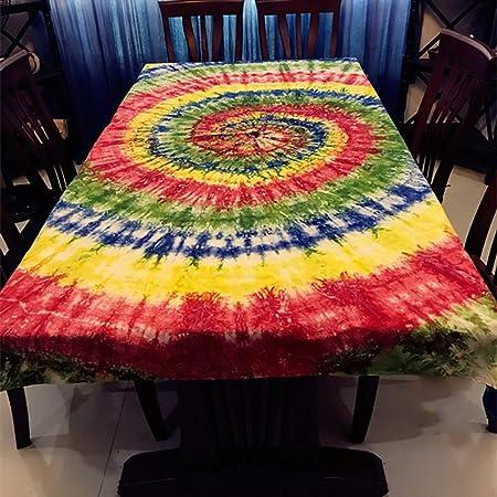 ZIFEI Artesanía Tie Dye Tapestry,Arte Chino Manteles Oriental ...