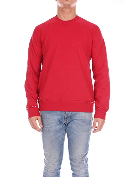 Valentino Hombre PV3MF03U3TV157 Rojo Algodon Sudadera: Amazon.es: Ropa y accesorios