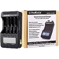 Moniel Lii-500 Carregador de bateria Carregador inteligente com 4 slots de bateria Visor LCD para suporte de baterias…