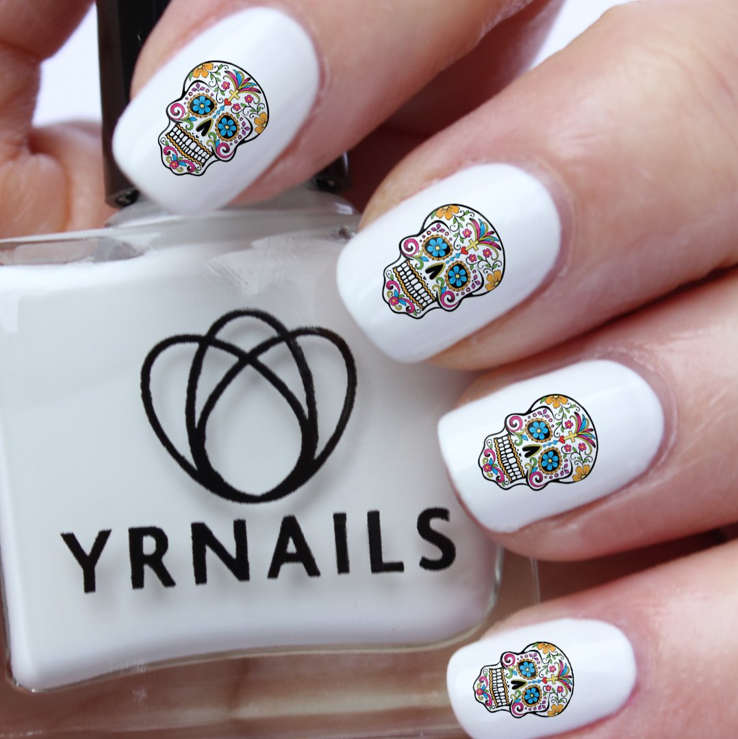 Sugar skull nail decals by yrnails amazon beauty prinsesfo Gallery
