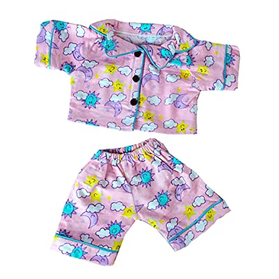 Stuffems Toy Shop Sunny Days Pink PJ's Outfit for 14-Inch-to-18-Inch Teddy Bears: Toys & Games