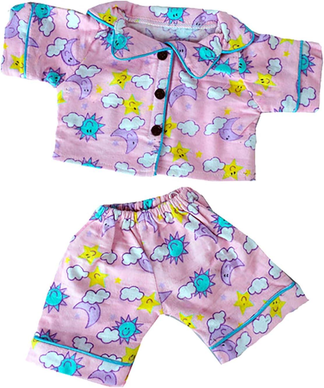 "Bear Factory Doll Outfits Fit 14-18/"" Stuffed Bears Animal Blue Bear Bedtime Robe"
