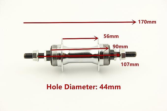 Bike Bicycle Rear Hub 36 Hole For Band Brake Screw Thread Freewheel Black