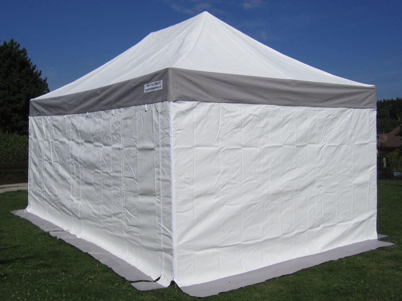 3x4,5m Profi Faltzelt Marktzelt Marktstand Tent 50mm Hex mit Metallgelenken u. PVC PLANEN FEUERHEMMENDEN von AS-S