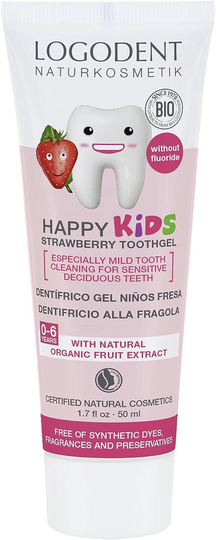 Logona Logodent Happy Kids gel dental con fresa, 50 ml