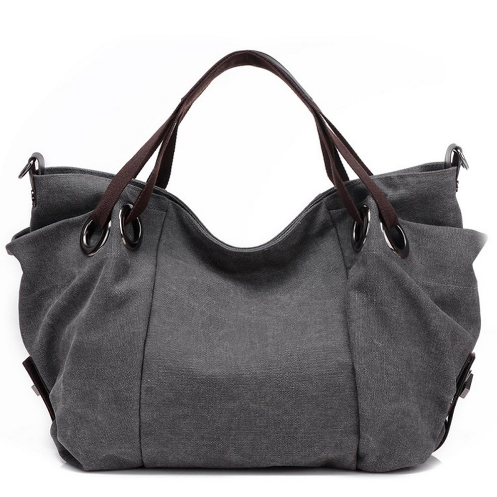 de8f19d172c3 Duofeiya Canvas Large Tote Bag Shopping Hobo Shoulder Bag with Adjustable  Strap