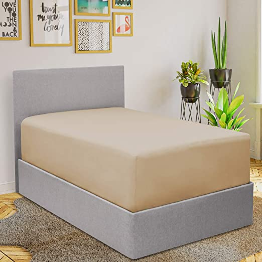 Amazon.com: Mellanni Extra Deep Pocket Fitted Sheet   1800 Brushed