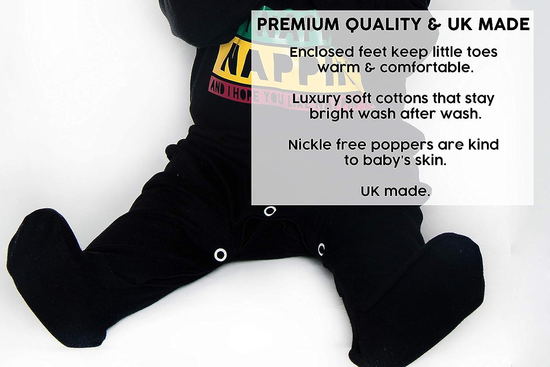 Baby Moos Baby Jungen Schlafstrampler schwarz Schwarz 6-12 Monate 0-24 Monate