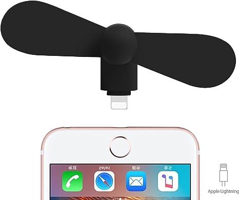Fan USB Eléctrica iPhone Ventilador vía USB Negro para el teléfono ...