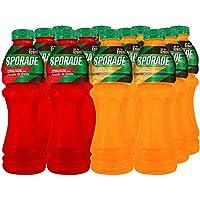 SPORADE Mezclas Naranja y Ponche de frutas 620 ml 12 pzas. por paquete PET