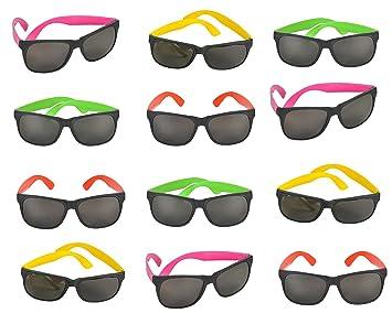 Amazon.com: Estilo 80s Neón – Gafas de sol, Color Grandes ...