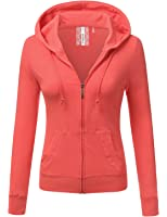 Teejoy Women's Thin Cotton Zip Up Hoodie Jacket at Amazon Women's ...