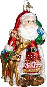 Old World Christmas Ornaments: Assortment of Santas Glass Blown Ornaments for Christmas Tree, Nordic Santa