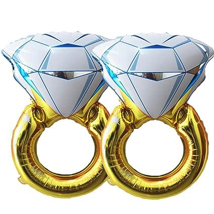 Amazon Set Of 2 Giant 45 Diamond Engagement Ring Mylar