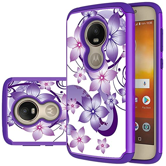 competitive price f08a6 f20c8 Moto E5 Play Case, Moto E5 Cruise Case, Yiakeng Shockproof Protection Tough  Rugged Dual Layer Armor Case Cover for Motorola Moto E5 Play (Purple ...