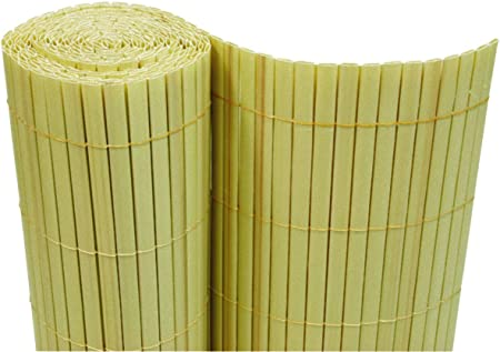 PVC Sichtschutzmatte 90x300 cm  grün Balkon Sichtschutz Zaun Windschutz