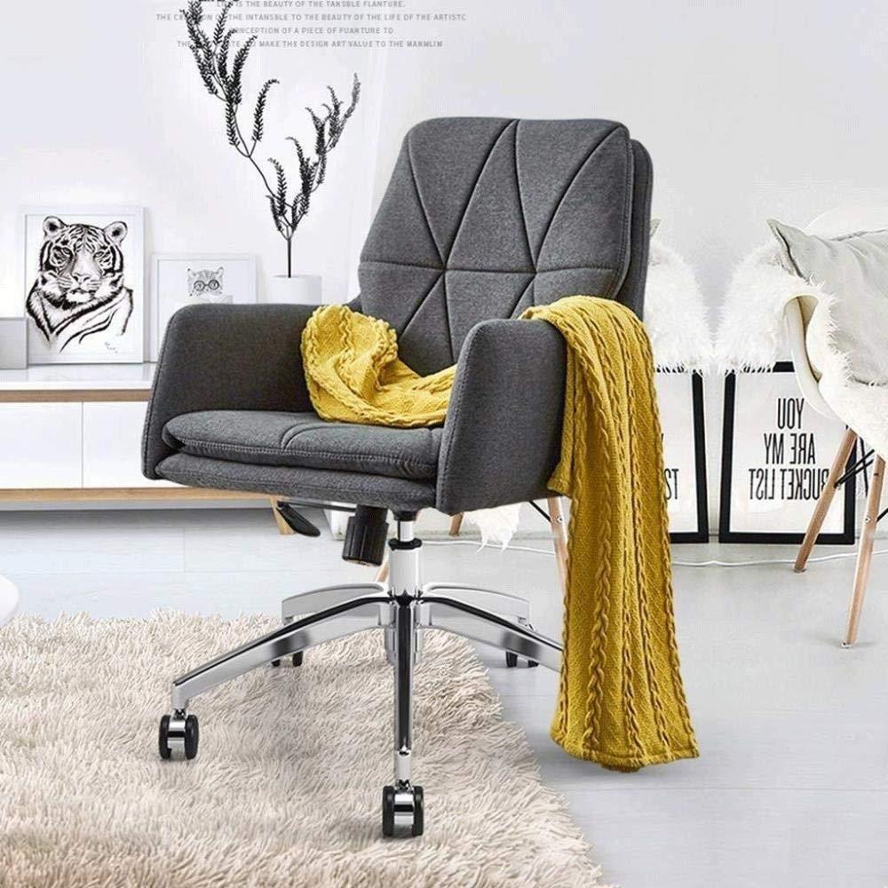Barstolar Xiuyun svängbar stol – verkställande modern stoppad kontorsstol spelstol, modern datorstol möbler hemstol skrivbord uppgift stol med armar (färg: Beige) Grått