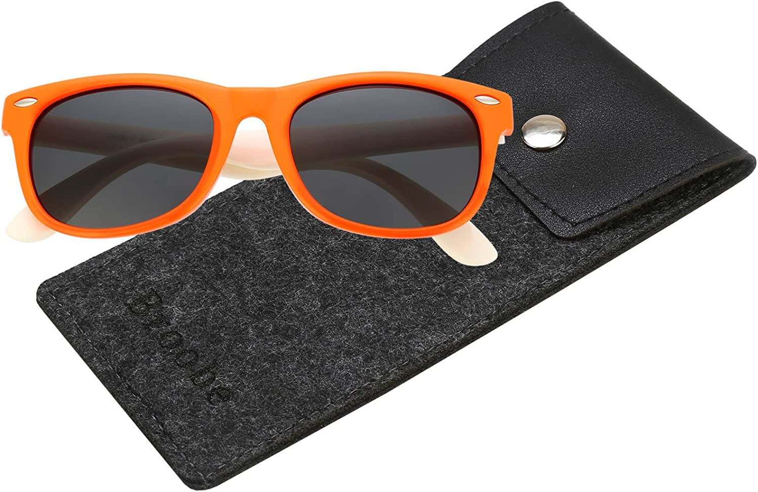 Brooben Rubber Flexible Kids Polarized Sunglasses for Baby and Children Age 3-10 802