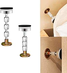 Bed Frame Support,headboard stoppers,Reinforced Multifunctional Furniture Anti-Shake Supporter, Adjustable Headboard Support Tool,Telescopic Support for Bed Sofa Bedroom Bathroom,1.7in-4.8in,2PCS