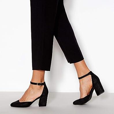 b09d596af96 Principles Womens Black  Reagan  Wide Fit Block Heel Sandals 4 ...
