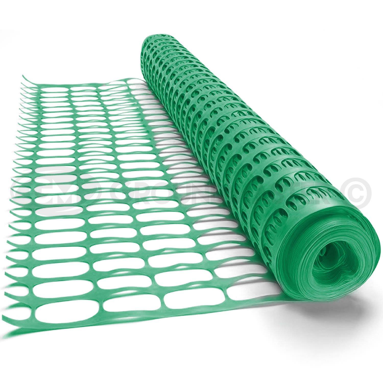 GroundMaster Plastic Mesh Barrier Safety Fence Gardening Pest Protection (5m, Black)