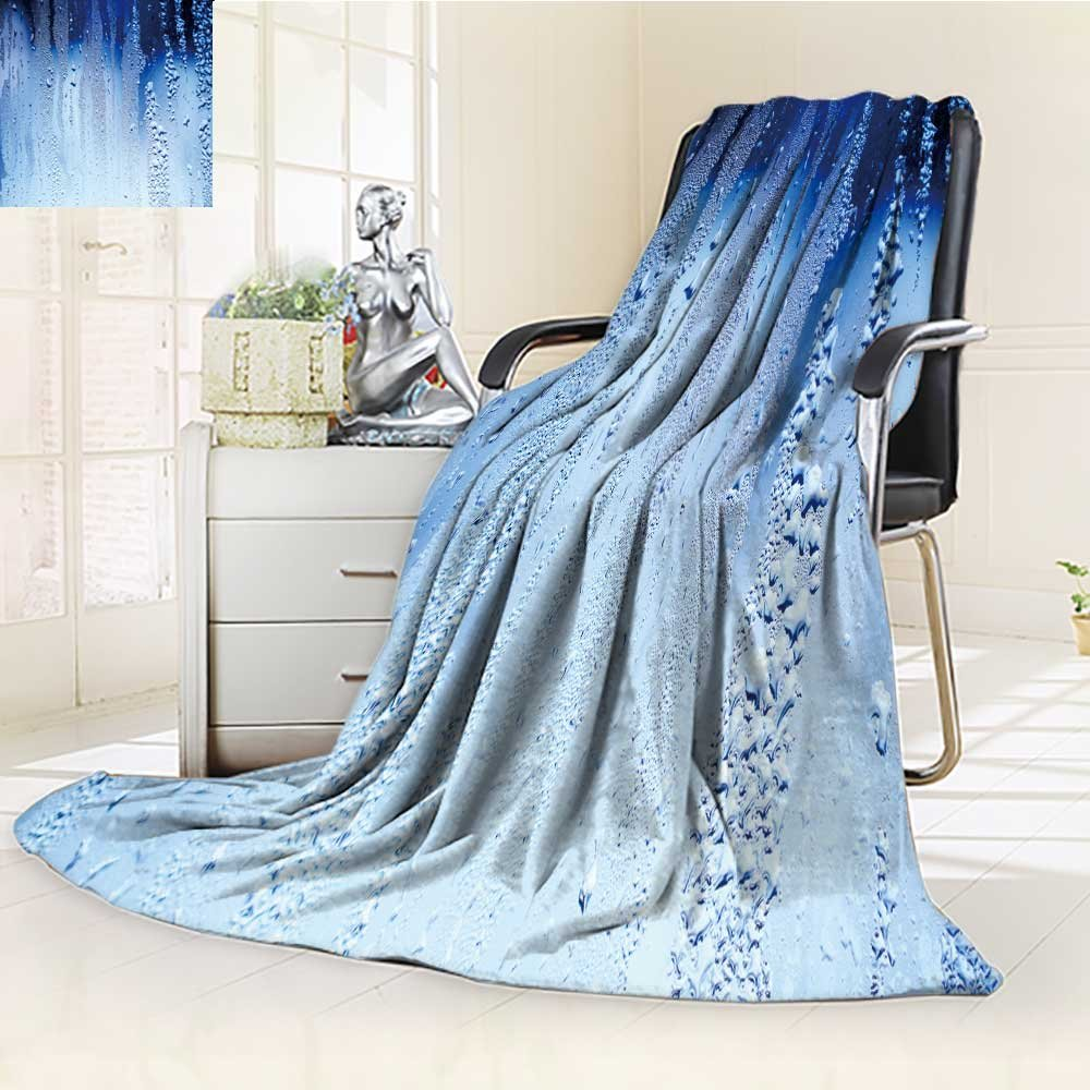 DOLLAR Blanket,drops of water on a window glass Traveling, Hiking, Camping, Full Queen, TV, Cabin, Couch, Bed Throw(60''x 50'')
