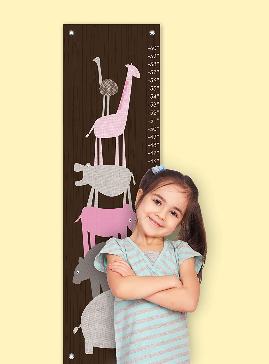 Oopsy Daisy Growth Chart - Animal Pile Up - 12 x 42 (Discontinued by Manufacturer)