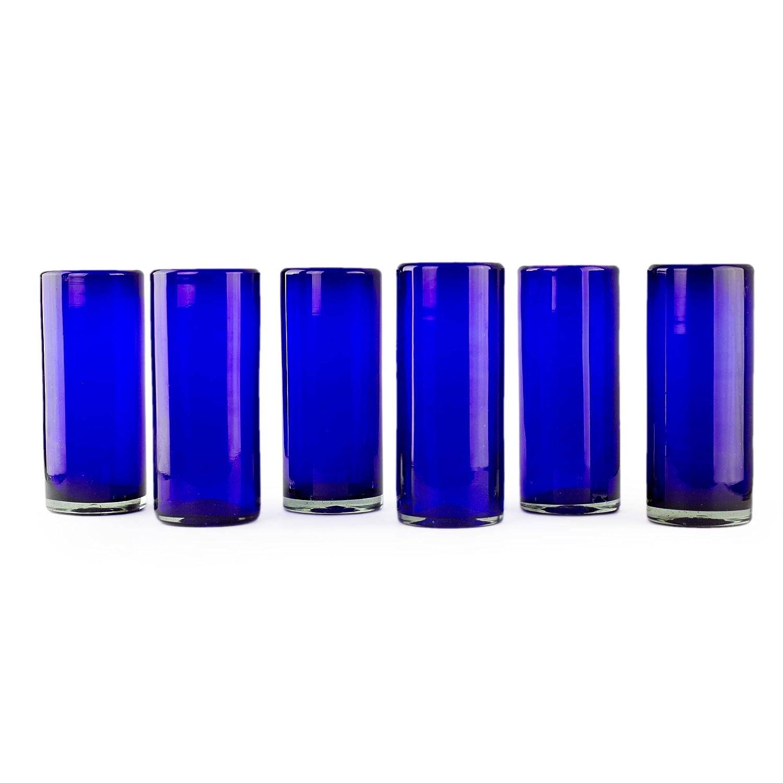 Amazon.com: NOVICA Artisan Crafted Azul Oscuro (Cristal ...