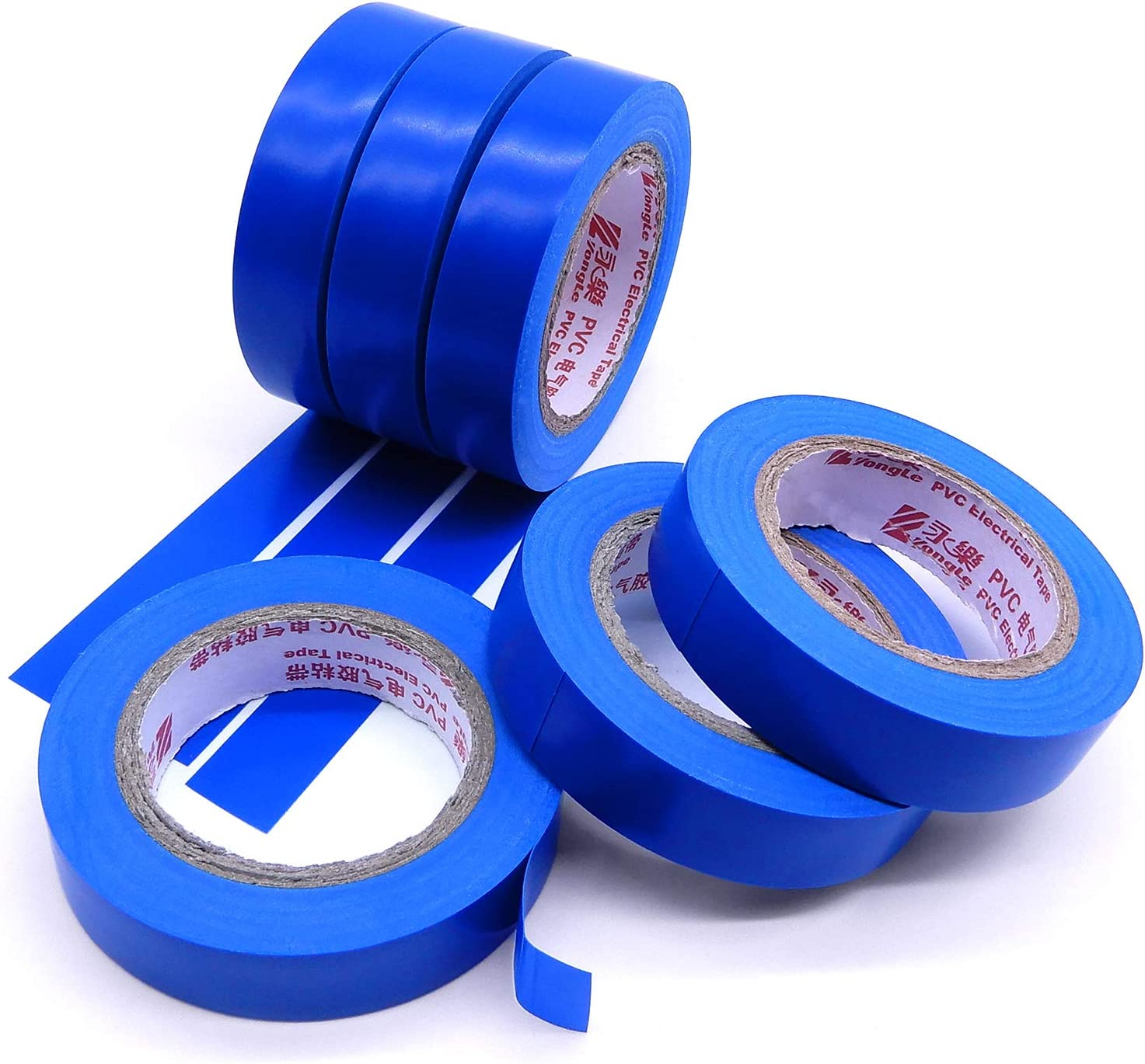 Maveek Pvc Vinyl Electrical Tapes With Rubber Based Adhesive 6 Rolls Blue Electrical Insulation Tape Waterproof Heat Resistant Ul Listed Flame Retardant Industrial Scientific Electrical Tape