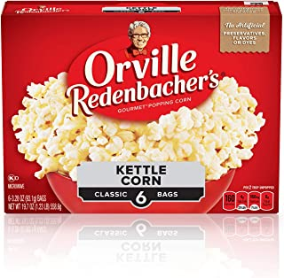 product image for Orville Redenbacher's Kettle Corn Microwave Popcorn, 3.28 Ounce Classic Bag, 6-Count