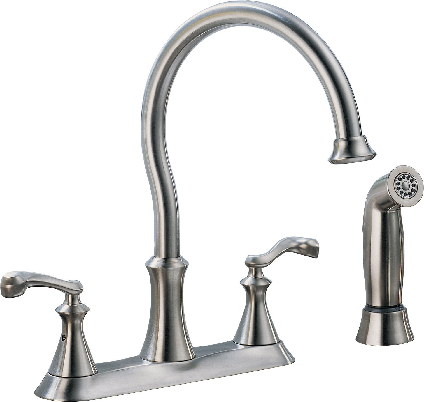 Delta 21925LF-SS Vessona Two Handle Kitchen Faucet with spray, Stainless