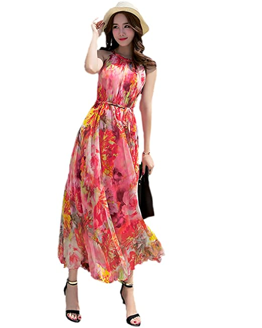 f39fd0d977f Medeshe Women s Chiffon Long Chiffon Maxi Dress Celebrity Graduation Dinner Dress  Beach Bridesmaid Sundress